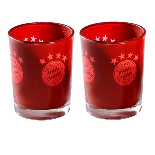 Unbekannt FC Bayern München Windlichter 2er Set 6,5 x 5,5 cm