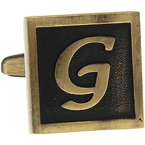 MFYS Gemelli color rame lettera G, motivo: Link-Bracciale da uomo con scatola