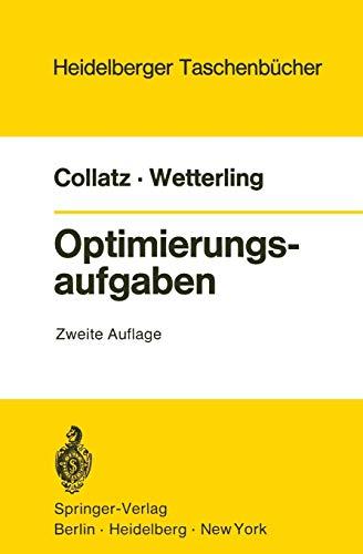 Optimierungsaufgaben (Heidelberger Taschenbücher (15), Band 15)