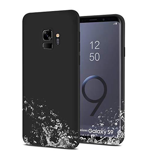 Whew Hülle Kompatibel Samsung Galaxy S9, Matt Schwarz Ultra Dünn Flexibel Silikon Case Premium TPU Schutzhülle, Anti-Fingerabdruck und Anti-Kratzer Anti-Dropping Handyhüllen Kompatibel Galaxy S9