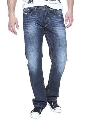Diesel Jean Droit LARKEE Wash 0074W, Couleur: Bleu foncé, Taille: 28/32