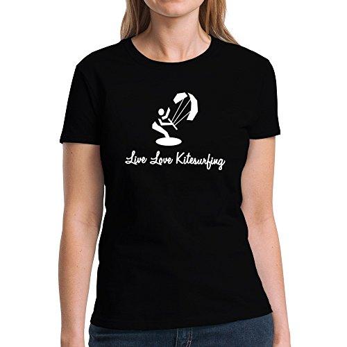 Eddany Live Love Kitesurfing Damen T-Shirt