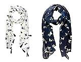 #3: Icw Women's Chiffon Scarf (Fashion56_Multicolor_Small)