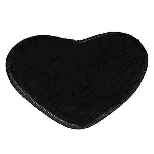 OMUSAKA Badematten rutschfeste Heimtextilien Chenille Teppich Herzform Matten Fußmatte Küche Bad Saugfähige Matte
