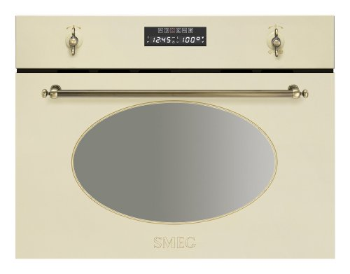 Smeg SC845VPO9 Kompakt Dampfgarer Creme Beige Dampfgarofen Einbau Nostalgie 34L