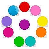 Qklovly Lot de 10 cercles effaçables à sec pour tableau blanc amovibles en vinyle pour aneth et École, enseignement, progrès, salle de classe, table d'étudiants, bureau Multicolore