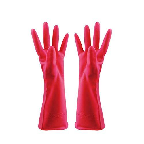Plisco Hygienehandschuhe Gummi Latex Gummi Kunststoff wasserdicht und Öl wiederverwendbar Hygienehandschuhe rot_L -