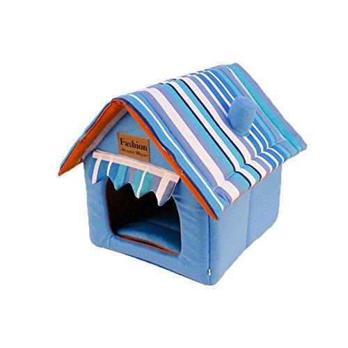 YNZYOG Nid De Chat Chenil Chaud Niche À Chien M XL Lit d'animal d'hiver Bleu Maison De Compagnie Nid De Coton Salle De Cachette d'animal D'intérieur Amovible Et Lavable (Taille : XL)