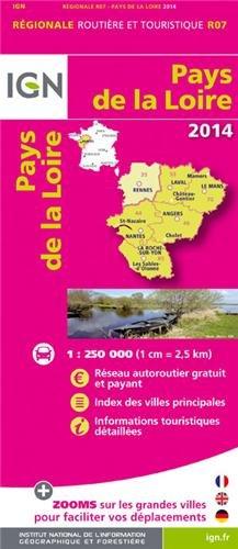 R07 PAYS DE LA LOIRE 2014 1/250.000