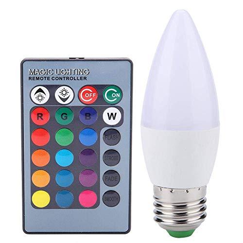 E-CHENG Smart LED Bulbs Candelabra Base, WiFi Control Light,3W Multicolored LED, RGB Color Changing Smart Lighting Candle Light Bulb Decorative, Smart Candle Lighting(E27)