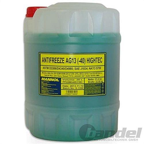 Preisvergleich Produktbild 20 Liter MANNOL Kühlerfrostschutz grün   AG13   -40°C Kühlflüssigkeit   schützt gegen Korrosion