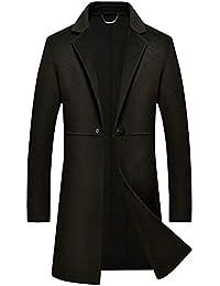 XLUOYI Cappotto da Uomo Autunno E Inverno Giacca Bermuda Doppio Cashmere  Lungo E Sottile ab3c4bbbe34