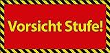 Viele verschiedene Vorsicht Stufe Schilder 29,5cm * 20cm * 2mm von SchwabMarken, 1 St�ck Bild