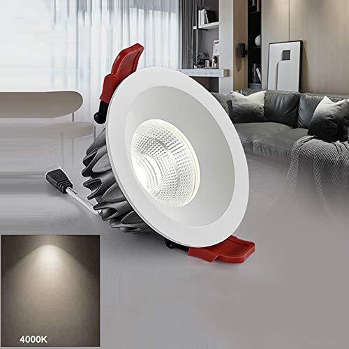 Wlnnes Luces ahuecadas LED impermeable Downlight llevó luces del baño Focos empotrables...