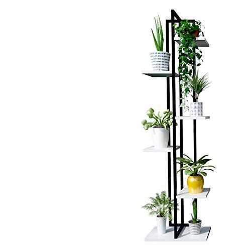 ZY&DD Bodenstehende blumenständer,Multifunktionale Grün Hängende orchideen Frame,Wohnzimmer Schlafzimmer Steel Holz Blume-F 20x40x145cm(8x16x57inch)