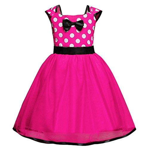 Herbst Kinder Mädchen Party Spitze Tutu Prinzessin Kleid Säugling Baby Kleider Outfits Kinderbekleidung Valentinstag (Alter: 12M, Roserot) (Kinder Fledermaus Kostüm Make Up)