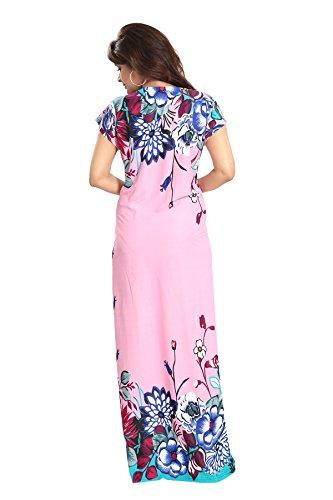 1bcdfaa8e6c ... Tucute Girls   Women s Night Gown   Nightwear   Nighty   Nightdress  With Floral Print Border ...