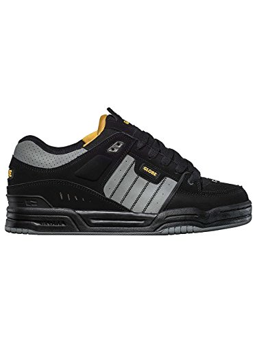 Globe Fusion, Chaussures de skateboard homme Black/Grey/Yellow
