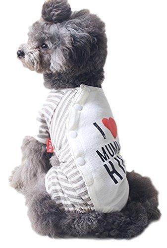 Für Mumie Hunde Kostüm - Fancy Me Haustier Hund Katze I Love Pyjama Pyjamas Nachtwäsche Schlafanzüge Mode Kleidung Kleidung Kostüm Kleid Outfit XS-XL - Mumie, Medium