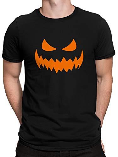 vanVerden Herren T-Shirt Kürbis Gesicht Gruseliges Halloween Kostüm Verkleidung, Größe:M, ()