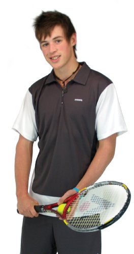 Karakal Tz Zip Polo Shirt - Russet/Black/White
