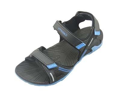 Calcetto Men's Black Synthetic Sport Sandals-8-CLT-1507 Black Blue-8