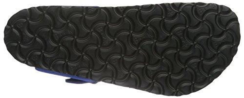 Birkenstock Unisex-Erwachsene Gizeh Leder Softfootbed Zehentrenner Blau (Blue)