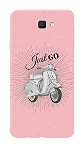 Samsung Galaxy On7 2016 Black Hard Printed Case Cover by Hachi - Just Go Scooter Design