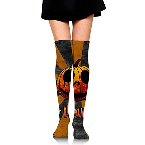 appy Holiday Cool Pumpkin Ankle Stockings Over The Knee Sexy Womens Sports Athletic Soccer Socks ()