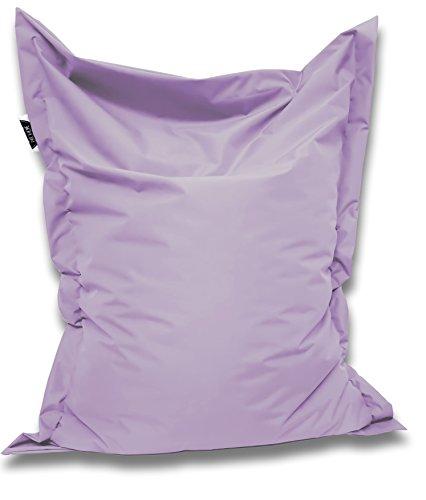 Patchhome Sitzsack und Sitzkissen Eckig - Flieder - 180x145cm in 25 Farben und 7 versch. Größen