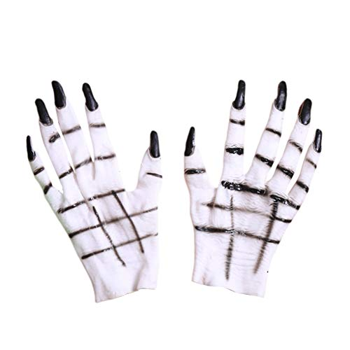 Halloween Horror Teufel Vampir Ghost Hände Handschuhe Cosplay Kostüm Gummi Fäustlinge Realistische Maskerade Dress Up Requisiten