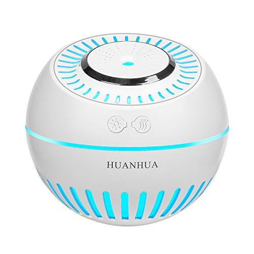 HUANHUA luftbefeuchter Schlafzimmer 380ml mit 7 vielfarbig LED Raumbefeuchter 35ml/h Einstellbare Nebelstufen Kinder luftbefeuchter Feuchtigkeitsabgabe für Auto, Büro, Baby Schlafzimmer