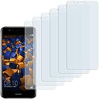 6 x mumbi Schutzfolie für Huawei P10 Lite Folie Displayschutzfolie (bewusst kleiner als das Display, da dieses gewölbt ist)