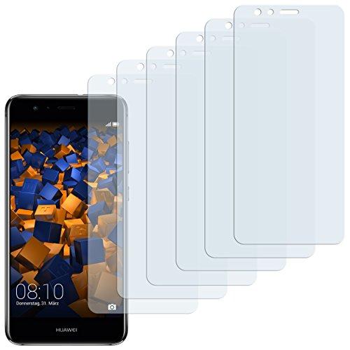 mumbi Schutzfolie kompatibel mit Huawei P10 lite Folie klar, Displayschutzfolie (6x)