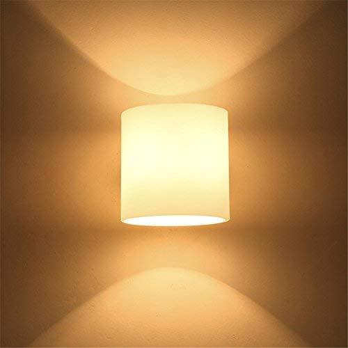 E27 modernes kreativ frosted Glas Lampenschirm Holz 1 Kopf Wand Lampe Schlafzimmer Schlafraum Korridor Hotel Restaurant Mauer Licht innen zuhause Zimmer Mall Dekor Wandlampen,12 * 13cm -