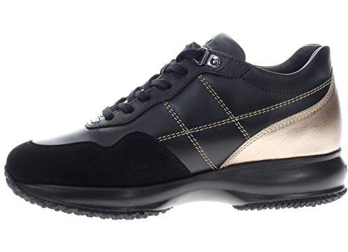 Hogan Donna Sneaker GYW00N0J100C7H415H Interactive Allacciata H Cucitura Nero