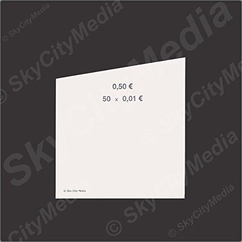 Münzrollpapier für Euro Münzen je 50x ( 0,01 € Papier) für Geldrollen / Rollgeld Münzrollenpapier / Handrollpapier / NEU