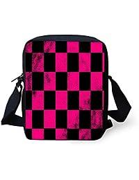 Cool Pringt design leggero a tracolla casual borse a tracolla Pink And  Black Lattice 1f78b1c06598