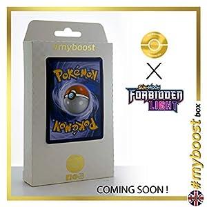 Beast Ring (Anillo Ente) 102/131 Holo Reverse - #myboost X Sun & Moon 6 Forbidden Light - Box de 10 cartas Pokémon Inglesas