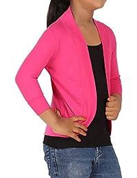 WellFitLook Ziaffzoz Girls Pink Shrug