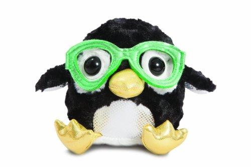 Aurora World 73750 - Gumdrops Pinguin mit Cooler Nerd Brille 12.5 cm, schwarz/weiß