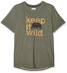 Columbia Kurzärmliges T-Shirt für Herren, MILLER VALLEY SHORT SLEEVE TEE, Polyester/Viskose, Grün (Cypress), Gr. L, 1773231