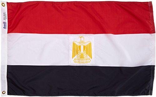 Nyl Glo Nylon (Annin flagmakers 192357Nylon solarguard nyl-glo Ägypten Flagge, 2x 3')
