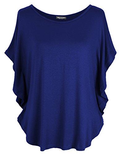 Emma & Giovanni T-Shirt/Oberteile Kurzarm - Damen (Blau, L/XL)