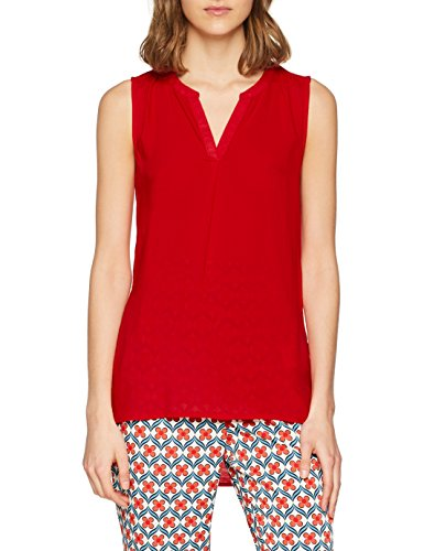 Q/S designed by - s.Oliver Damen Bluse 45.899.13.0475, Rot (Real Red 3117), 40