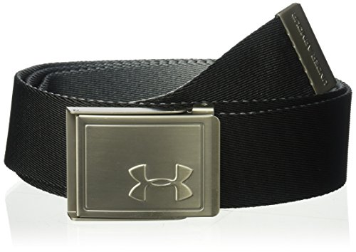 Under Armour Men's Webbing 2.0 Belt Cinturón, Hombre, Negro (001), One Size