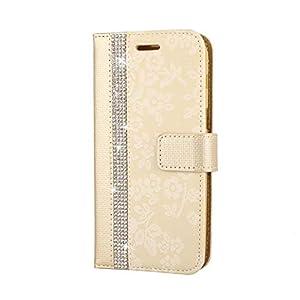 Galaxy A3 2017 Hülle, SONWO PU Leder Brieftasche Flip Schutzhülle, TPU Bumper Flip Schutzhülle Kompatibel Samsung Galaxy A3 2017 mit Karte Schlitz, Gold