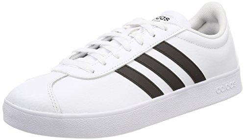 adidas Herren VL Court 2.0 Fitnessschuhe, Weiß(FTWR White Core Black), 43 1/3 EU