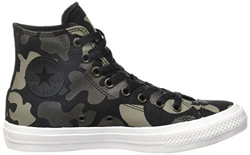 Converse Chuck Taylor All Star Ii Reflective Camo, Baskets Basses Mixte Adulte Noir