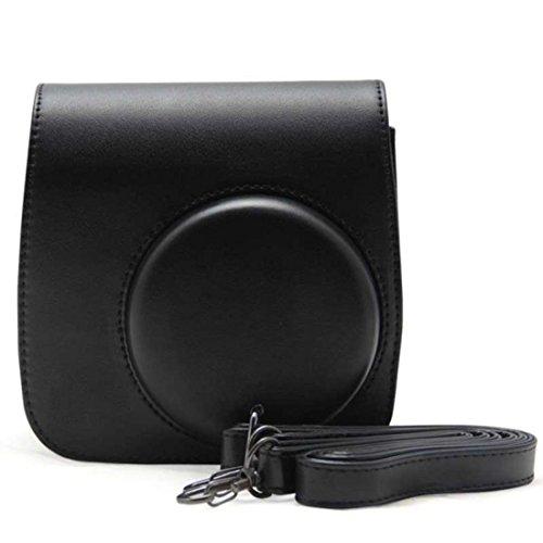 Vovotrade® PU pelle fotocamera borsa caso per Fujifilm Instax Mini8 Mini8s (Nero)